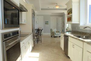 kitchen view at 106 one ocean